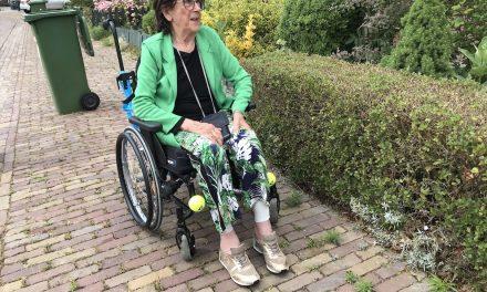 Ander gebruik van een tennisbal: stootkussen om beenwonden te voorkomen en als stoelpootglijder
