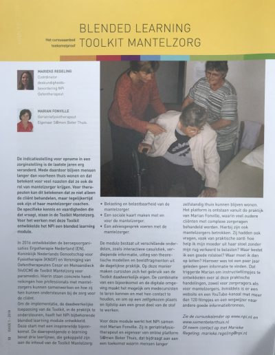 Blanded learning toolkit mantelzorg